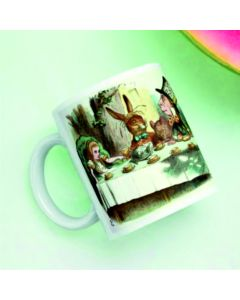 British Library Alice in Wonderland Ceramic Mug with Mad Hatter's Tea Party Design