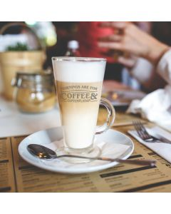 Morning's are for Coffee and Contemplation Latte Glass & Gift Box