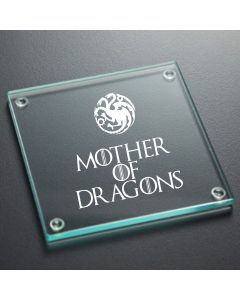 Mother of Dragons Game of Thrones Inspired Glass Coaster