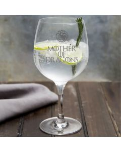 Mother of Dragons Game of Thrones Inspired Gin Glass