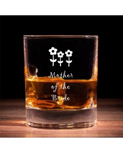 Traditional Whisky Glass With Mother of the Bride Flowers Design