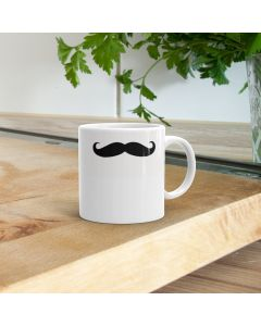 11oz Ceramic Mug With Moustache Design
