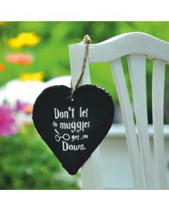 Lapal Dimension Don't Let The Muggles Get You Down Harry Potter Inspired Slate Heart - 9cm