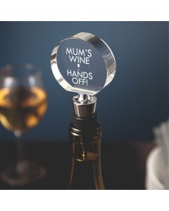 Mum's Wine - Hands Off! Chrome Bottle Stopper