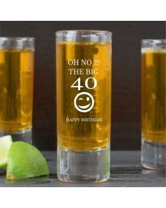 (FBA) Engraved 40TH BIRTHDAY Tall Shot Glass
