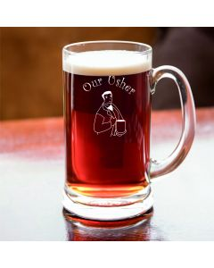 Half Pint Glass Tankard With Our Usher Design