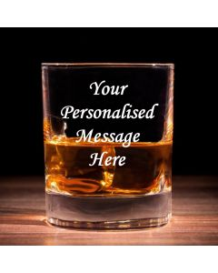 Personalised Engraved Traditional Whisky Glass