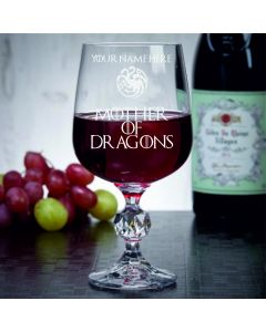 Personalised Mother of Dragons Game of Thrones Inspired 11oz Wine Goblet