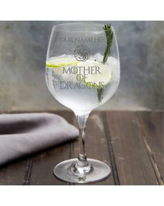 Personalised Mother of Dragons Game of Thrones Inspired Gin Glass