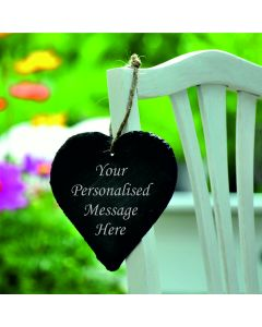 Personalised Engraved Slate Heart - 9cm