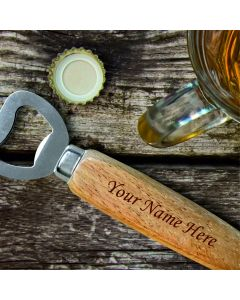 Personalised Engraved Wooden Handle Bottle Opener