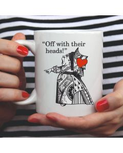 British Library Alice in Wonderland Ceramic Mug with Queen of Hearts Design