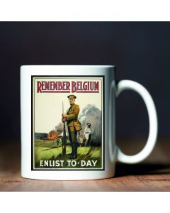 Remember Belgium British Library World War I Commemorative Mug