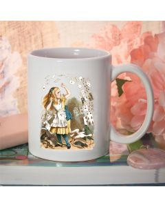 British Library Classic Alice in Wonderland Ceramic Mug with Shower of Cards Design