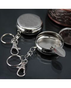 Silver Plated Keyring Ashtray
