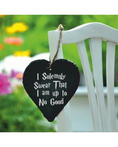 Lapal Dimension I Solemnly Swear That I Am Up To No Good Harry Potter Inspired Slate Heart - 9cm
