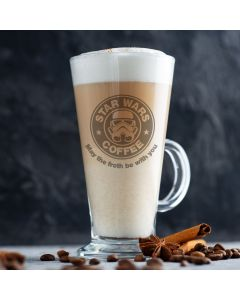 Star Wars Starbucks Latte Glass