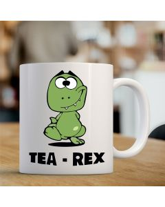 11oz Ceramic Mug With Tea-Rex Design