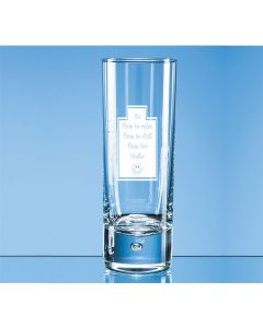 """It's time to relax, time to chill, time for Vodka"" 10oz Bubble Base Hi-Ball Glass"