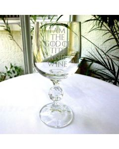 I Am The God of Tits and Wine Game of Thrones Inspired 11oz Wine Goblet