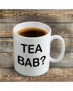 'Tea Bab?' Ceramic Mug
