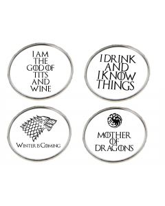Game of Thrones Inspired Pack of 4 Pin Badges