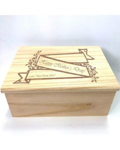 Personalised Mother's Day Wooden Jewellery Box