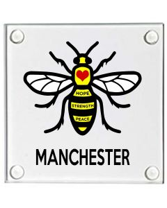 Manchester Bee Glass Coaster