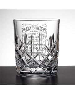 Garrison Birmingham Whiskey Peaky Blinders Inspired Cut Crystal Whisky Glass