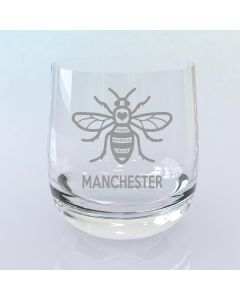 Manchester Bee Curved Whisky Glass