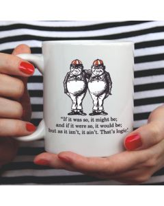 British Library Alice in Wonderland Ceramic Mug with Tweedledee & Tweedledum Design