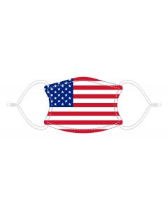 USA FLAG LD FACE MASK - ADULT