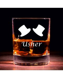 Traditional Whisky Glass With Usher Design