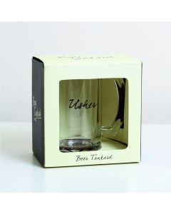 Glass Tankard with Usher Design