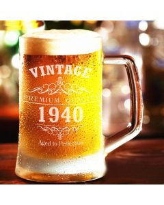 Vintage 1940 80th Birthday Pint Glass Tankard