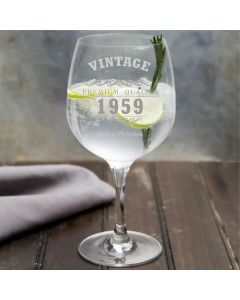 Vintage 1959 60th Birthday Copa Gin Glass