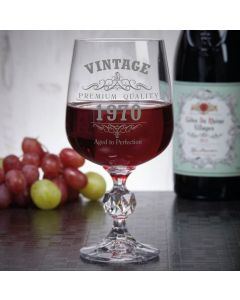 Vintage 1970 50th Birthday 11oz Wine Goblet