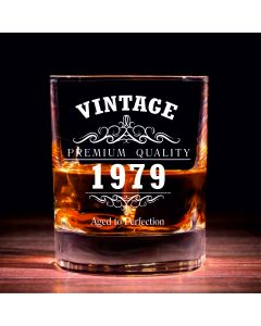 Lapal Dimension Vintage 1979 40th Birthday Traditional Whisky Glass
