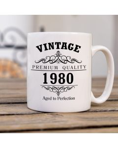 Vintage 1980 40th Birthday Ceramic Mug