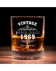 Vintage 1989 30th Birthday Traditional Whisky Glass