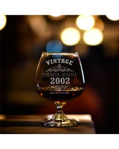 Vintage 2002 18th Birthday Bohemia Brandy Glass