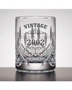 Vintage 2002 18th Birthday Cut Crystal Whisky Glass