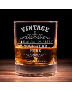 Personalised  Vintage Traditional Whisky Glass