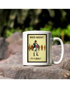 Who's Absent? are You? British Library World War I Commemorative Mug