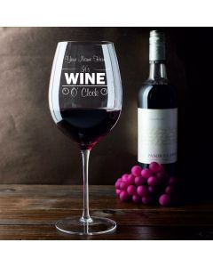 Personalised It's Wine O' Clock 750ml Wine Glass (Holds a Whole Bottle of Wine)