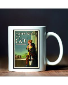 Women of Britain Say Go! British Library World War I Commemorative Mug