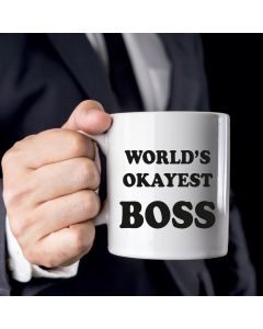 11oz Ceramic Mug With World'S Okayest Boss Design