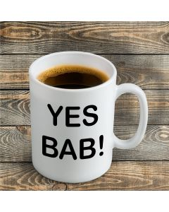 'Yes Bab!' Ceramic Mug